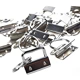 25sets 1 Inch Key Fob Hardware/Wristlet Sets with Key Ring