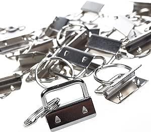 25sets 1 Inch Key Fob Hardware/Wristlet Sets with Key Ring