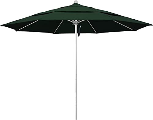 Phat Tommy 11 Ft Silver Anodized Commercial Patio Market Umbrella