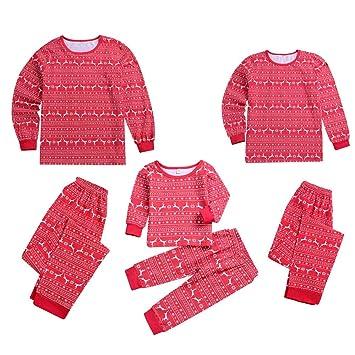 70553f4f7ec07 Parent-Enfant Vêtements de Noël Ensemble Pyjama Noel Famille Père Noël Mère Garçon  Fille du