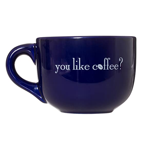 You Like Coffee? Only With My Oxygen - Gilmore Girls TV Show Mug Gift - 16oz Deluxe Latte Tea Mug