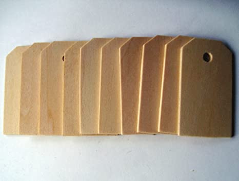 Large Wood Gift Tags / Blank Wooden Tags for Wine, Weddings, Gifts (50  count)