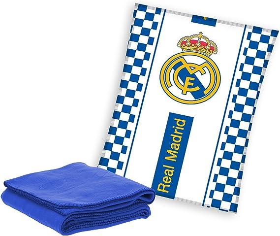 MERCURY Real Madrid Manta Polar, Poliéster, Azul, 10x30x140 cm: Amazon.es: Hogar