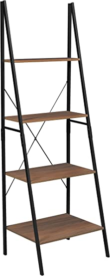 Amazon Com Niche Soho Modern Ladder A Frame Bookcase 72 H X 24 W Urban Walnut Furniture Decor