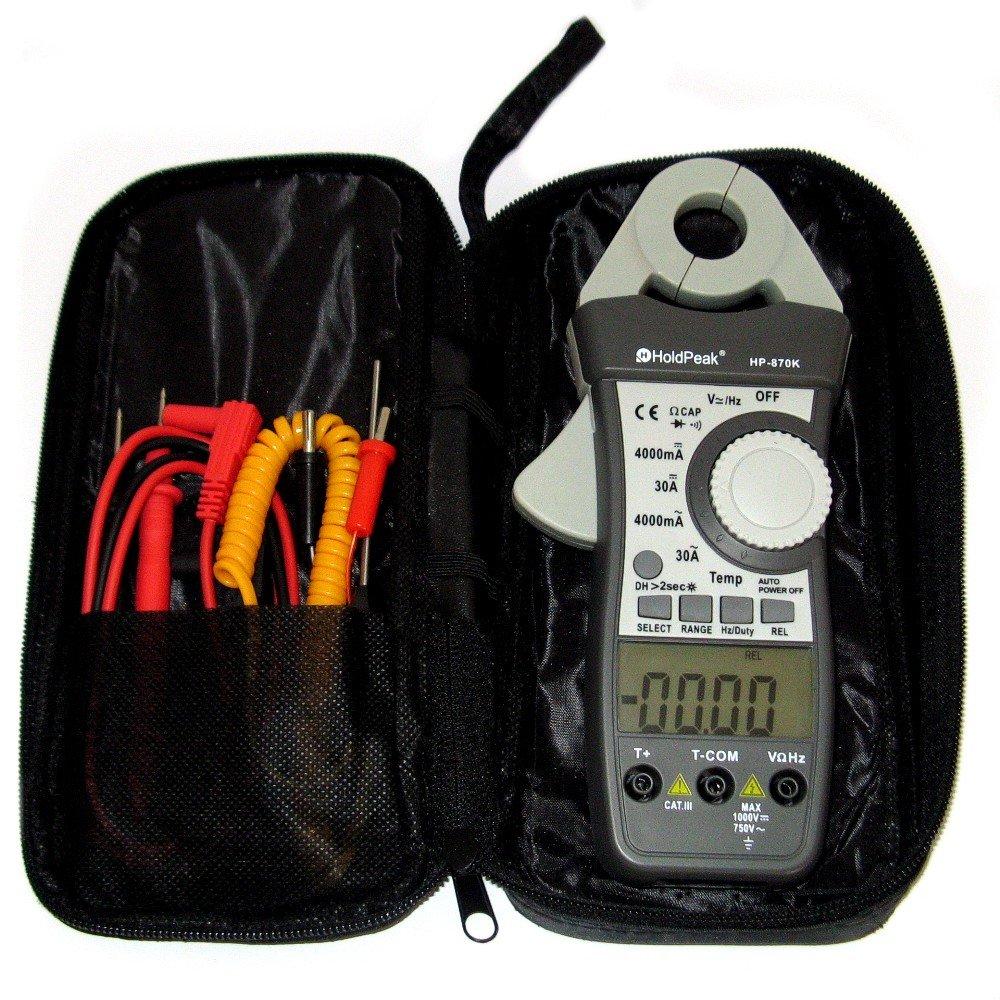 HoldPeak HP-870K mA Stromzange AC DC Zangen-Multimeter Gleichstromzange Amperemeter Digital