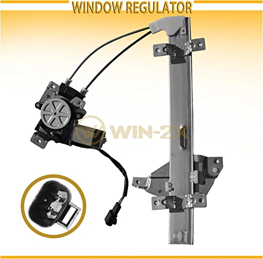 Front Left Driver Side Power Window Regulators with Motor Assembly Compatible for 97-05 Buick Century 97-04 Buick Regal 98-02 Oldsmobile Intrigue