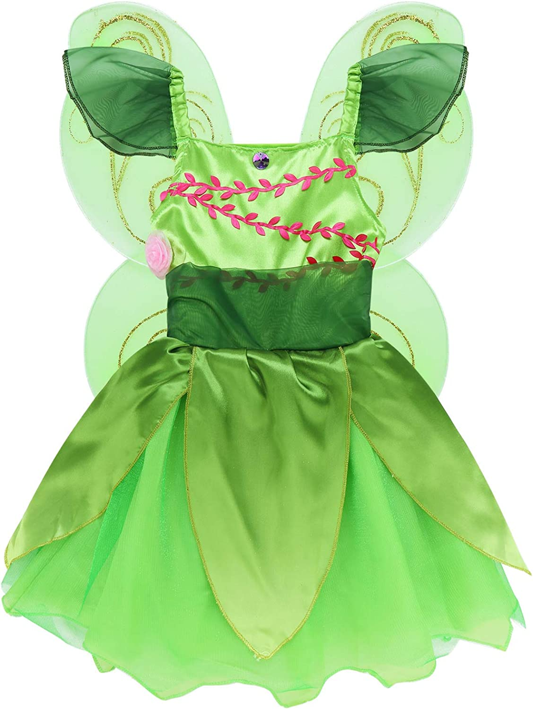 MSemis Disfraz Hada de Bosque para Niñas Vestido Tutú Princesa ...