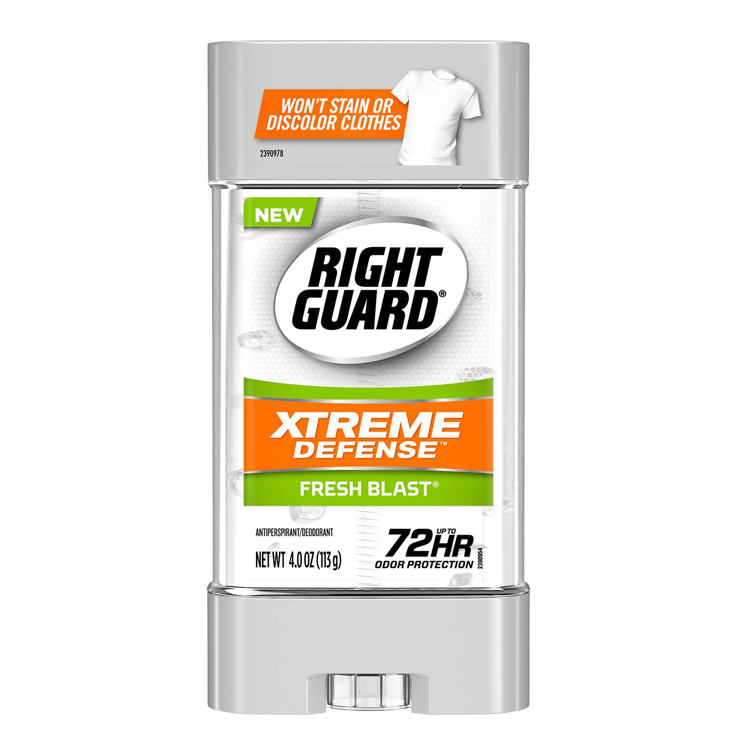 Right Guard Xtreme Defense 5 Antiperspirant Deodorant Gel, Fresh Blast, 4 Ounces (Pack of 6)