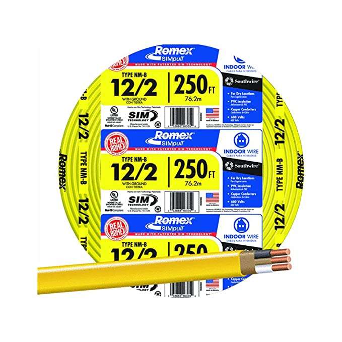 SouthWire 28828255 12/2WG NMB Wire 250-Feet - Electrical Wires ...