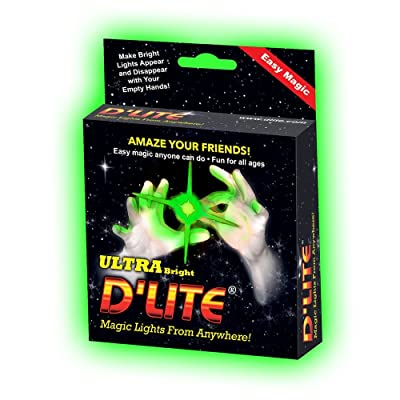 D'lites Regular Green Lightup Magic - Thumbs Set / 2 Original Amazing Ultra Bright Light - Closeup & Stage Magic Tricks - Easy Illusion Anyone Can Do It - See Box for Free Training / Routine Videos: Toys & Games