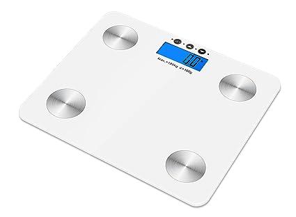 Kabalo color blanco 180kg Capacidad electrónica digital multifunción Grasa corporal, composición corporal, agua,