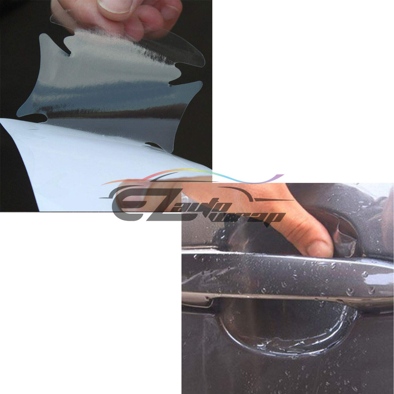 EZAUTOWRAP 4PCs 3M Scotchguard Clear Door Cup Handle Paint Scratch Protection Guard Film Bra Vinyl Style 1 by EZAUTOWRAP (Image #6)