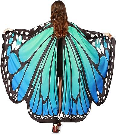 GoldLiiver Alas de Mariposa Disfraz para Mujer Disfraz de alas de ...