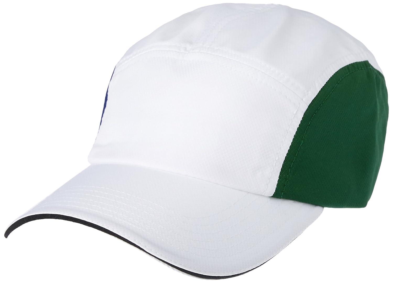 063a0d1474de02 Lacoste Men Dry Fit 5 Panel Cap, White/Ocean-Green-Black, 10 (One Size):  Amazon.com.au: Fashion