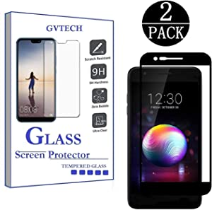 GVTECH for LG K30 Screen Protector, Full Coverage Tempered Glass Screen Protector [2.5D Round Edge][9H Hardness][Crystal Clear][Scratch Resist] for LG K30 (2 Pack)