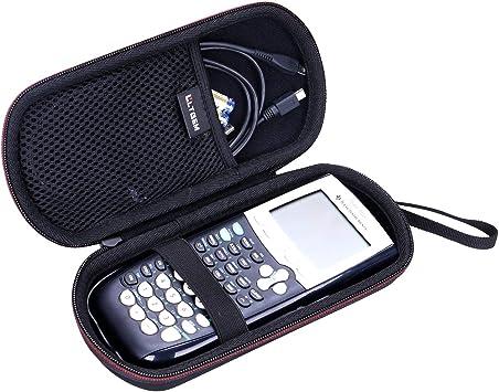 LTGEM EVA Hard Case for Texas Instruments TI-84, 89/83 / Plus/CE Graphics Calculator - Black