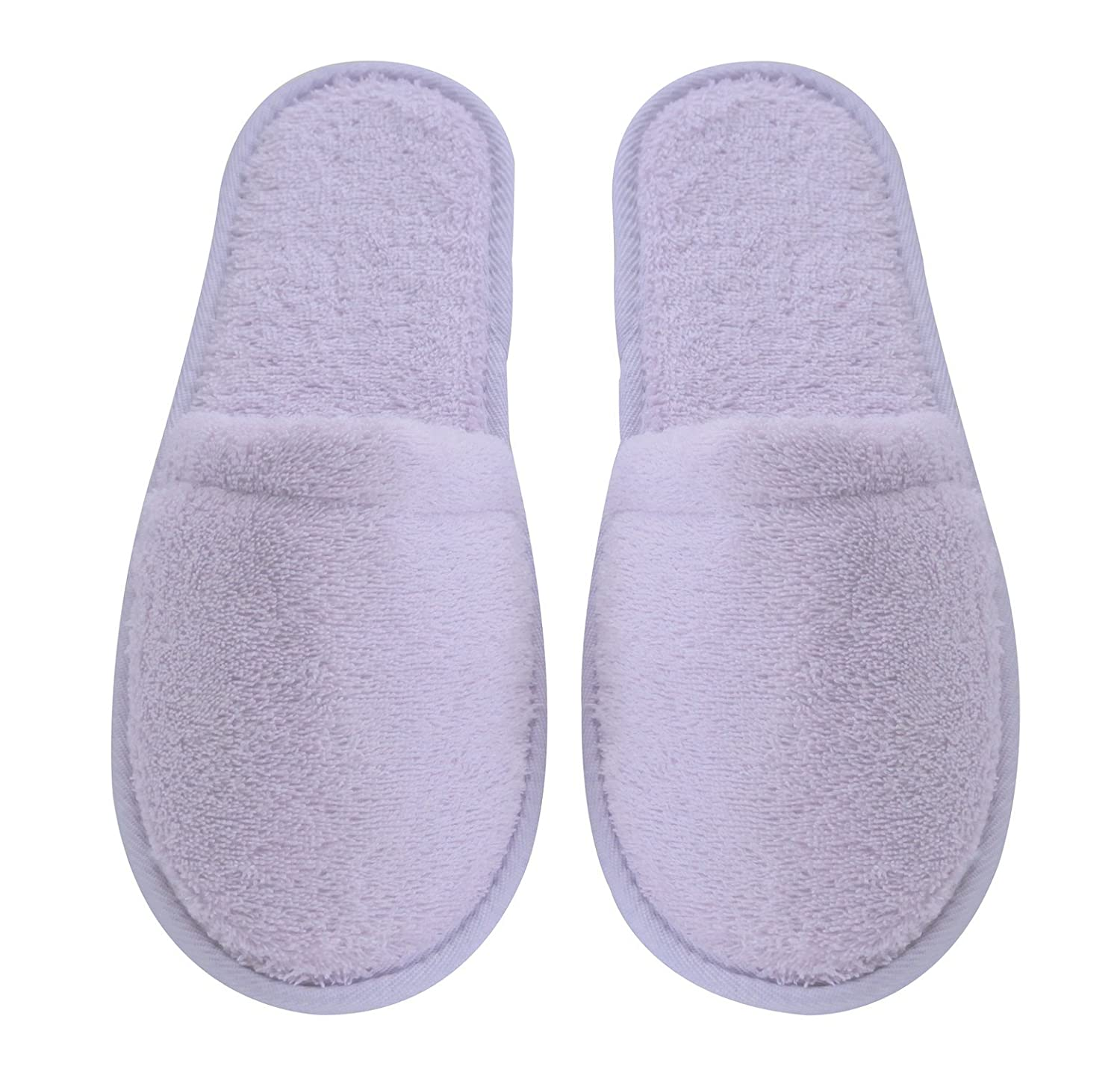 Arus Women's Turkish Organic Terry Cotton Cloth Spa Slippers One Size Fits Most, Black with Black Sole WSLP-BLK-BLK-SM