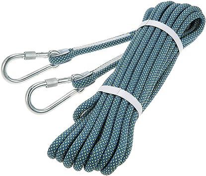 Docooler 10.5mm * 10m Cuerda de Rappel Cuerda de Escalada de Roca de Seguridad Espeleología Rappel Supervivencia Equipo