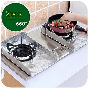 meolin estufa de gas quemador de gas de papel oleofóbico Pad papel de aluminio lata baberos gama pantalla hojalata aceite pan: Amazon.es: Hogar