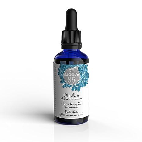 Arnica 35 - Aceite fuerte para masajes a base de árnica concentrada al 35% - IDEAL PARA DOLORES MUSCULARES, ARTICULARES Y CERVICALES - 100% natural: ...