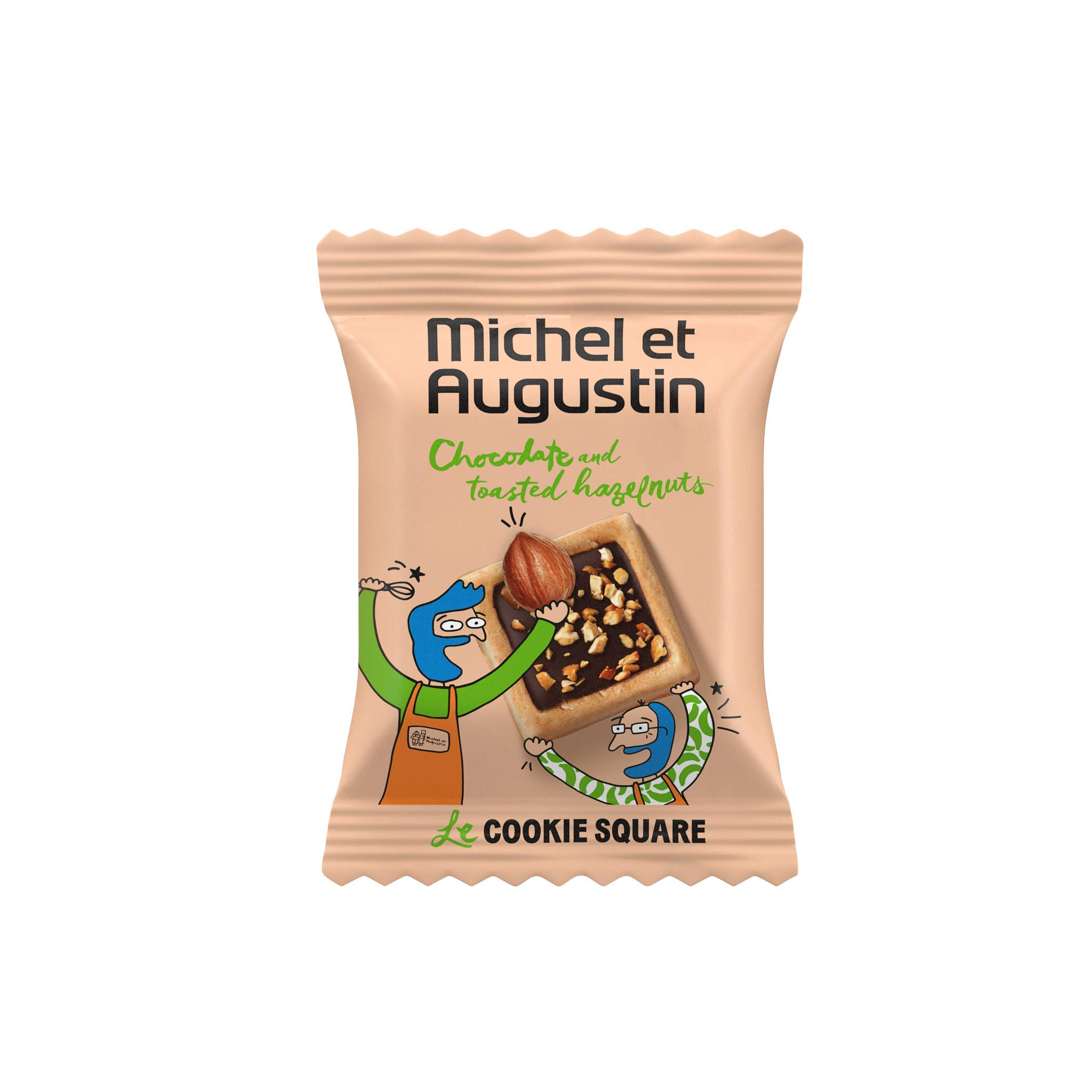 Michel et Augustin Chocolate French Cookie Bulk Mini Squares (180 Squares) | Hazelnut Pure Butter Shortbread by MICHEL & AUGUSTIN