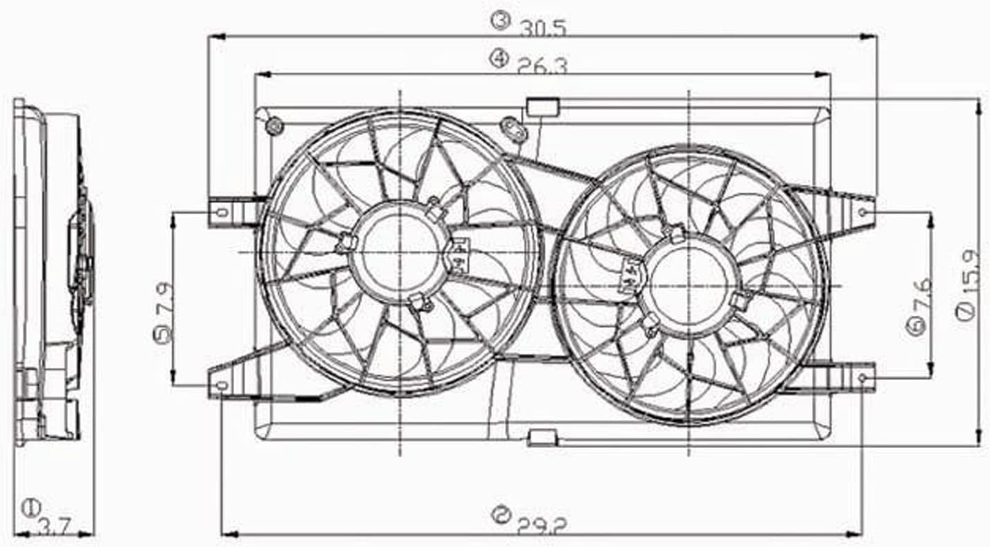 2001 dodge stratus engine diagram amazon com cpp radiator cooling fan assembly for 01 06 chrysler  amazon com cpp radiator cooling fan