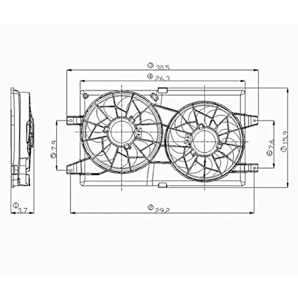 Amazon Cpp Radiator Cooling Fan Assembly For 0106 Chrysler. Cpp Radiator Cooling Fan Assembly For 0106 Chrysler Sebring Dodge Stratus Ch3115122. Dodge. 2002 Dodge Stratus Cooling Fan Diagram At Scoala.co