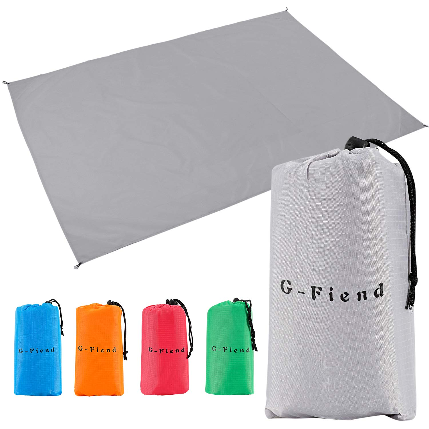 G-Fiend Outdoor Beach Blanket,5579in Compact Pocket Blanket Soft/&Quick Drying Ripstop Nylon Durable Lightweight Picnic Mat for Travel Camping/&Hiking with Corner Pockets and Portable Storage Bag
