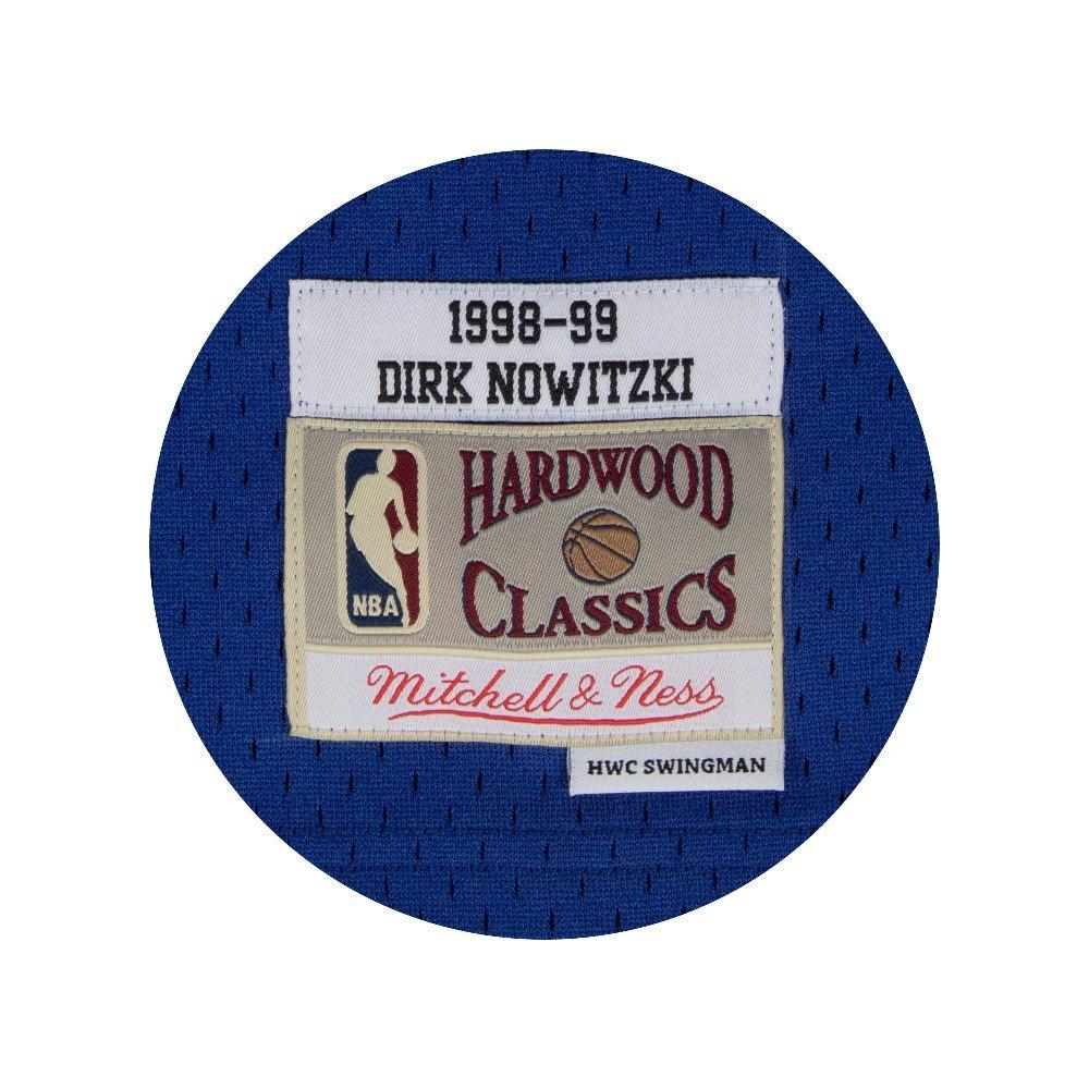 1438e936e543 Amazon.com   Mitchell   Ness Dirk Nowitzki 1998-99 Dallas Mavericks Blue  HWC Swingman Jersey   Clothing