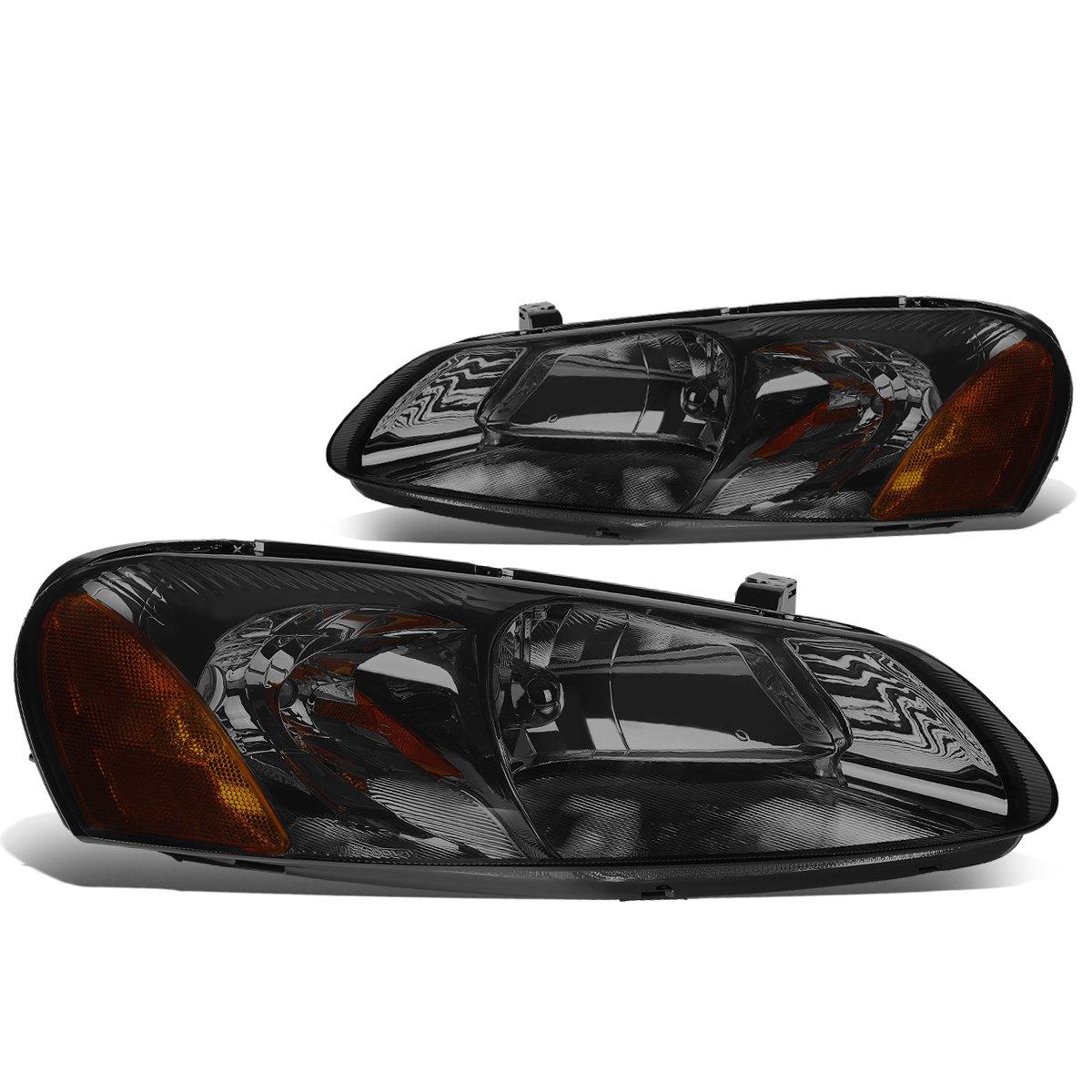 For 01-06 Chrysler Sebring Convertible//Dodge Stratus Sedan DNA Motoring HL-OH-031-SM-AM Pair of Headlight