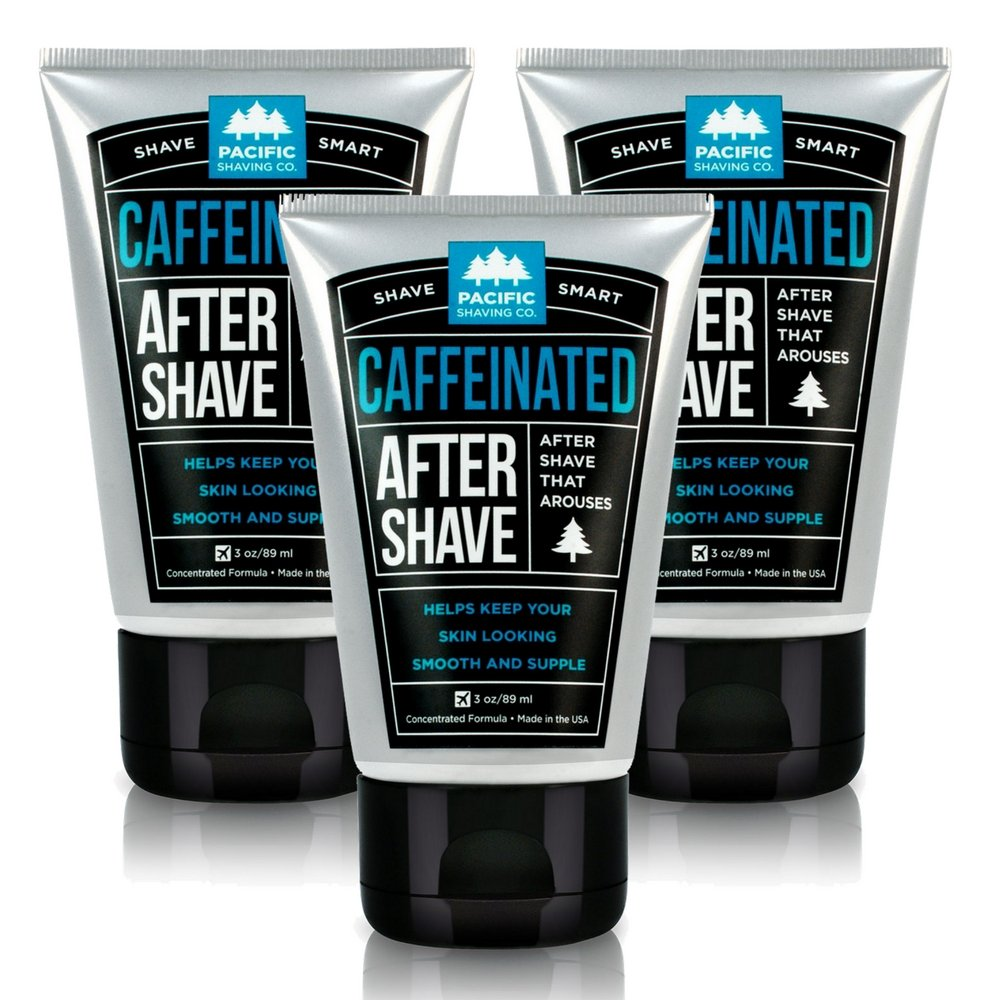 Pacific Shaving Company Caffeinated Aftershave, 3 Pack