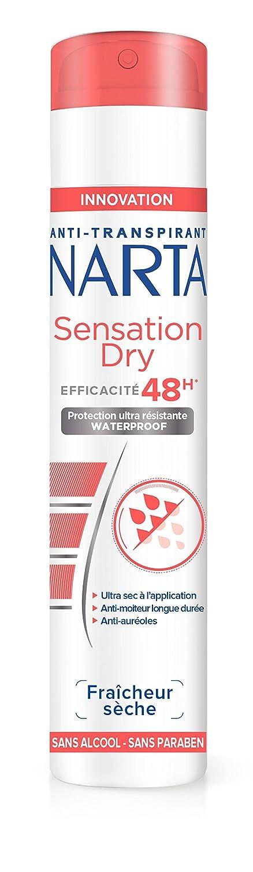 Narta - Déodorant Femme Atomiseur Anti-Transpirant Sensation Dry Efficacité 48h - 200 ml