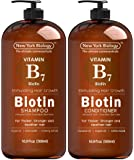 Biotin Shampoo and Conditioner Set for Hair Growth and Volume – Anti Dandruff Thickening Formula for Hair Loss and…