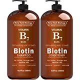 Biotin Shampoo and Conditioner Set for Hair Growth and Volume – Anti Dandruff Thickening Formula for Hair Loss and Thinning H