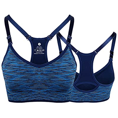 Horoshop Women Racerback Sports Bras,Adjustable Strap and Removable Pad Tank Top for Yoga Running Fitness Workout: Clothing