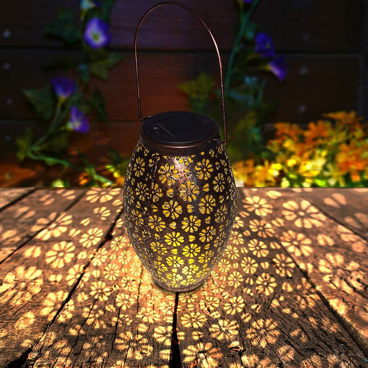 Linterna Solar Exterior, FOCHEA Farol Solar Exterior Impermeable IP65 con Asa para Jardin, Terraza, Patio, Césped: Amazon.es: Iluminación