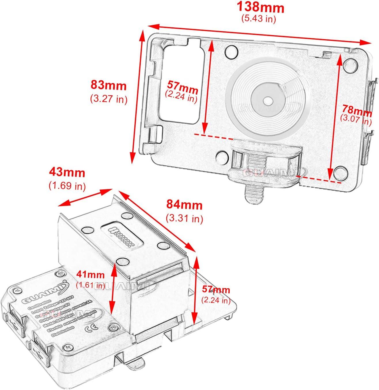 GUAIMI Motorrad Handyhalterung 2 in 1 Drahtloses und USB-Ladeger/ät Original GPS Navi Montage Handyhalterung Handyhalter Kompatibel mit B-MW R1200RT R1250RT 2014-2020