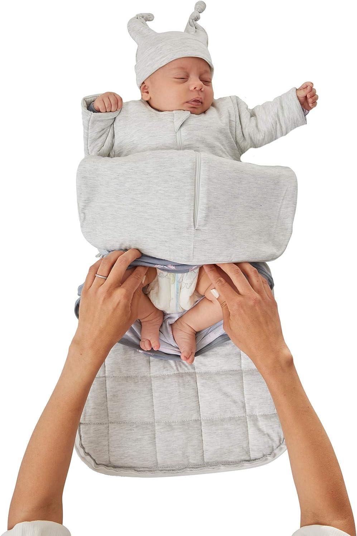 GUNAMUNA Sack Long Sleeve Gently Weighted 2.6 TOG//Baby Sleep Bag with Diaper-Zipper NB to 3 Months