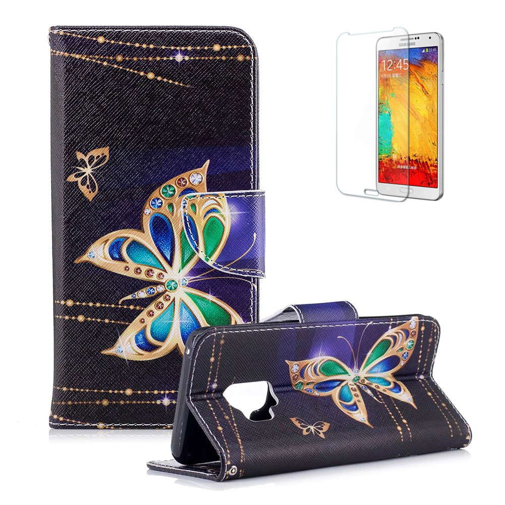 Funyye Magnetic Flip Cover for Samsung Galaxy S9, Premium Stylish Kiss My Ass Pattern Stand Wallet PU Leather Case with Soft Silicone for Samsung Galaxy S9 + 1 x Free Screen Protector FUNYYE0035036