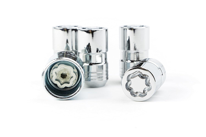 General Motors GM Accessories 92221880 Wheel Lock Kit in Chrome Pack of 4