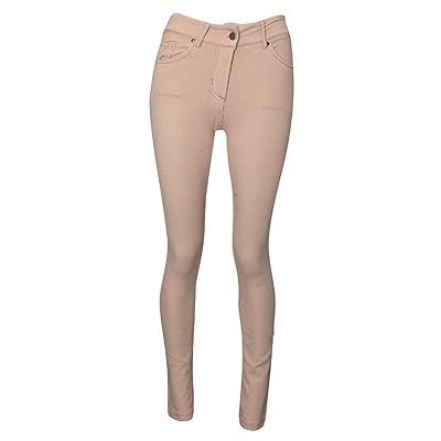 Amber Apparel - Jeans - Femme, Beige - Stone, 48