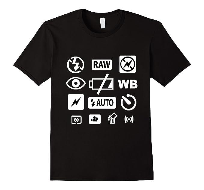 Amazon Photography Camera Icons T Shirt Clothing