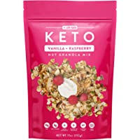 Low Karb - Keto Vanilla Raspberry Nut Granola Healthy Breakfast Cereal - Low Carb Snacks & Food - 3g Net Carbs - Gluten Free, Grain Free - Almonds, Pecans, Coconut chips, nuts and more (1 Count)