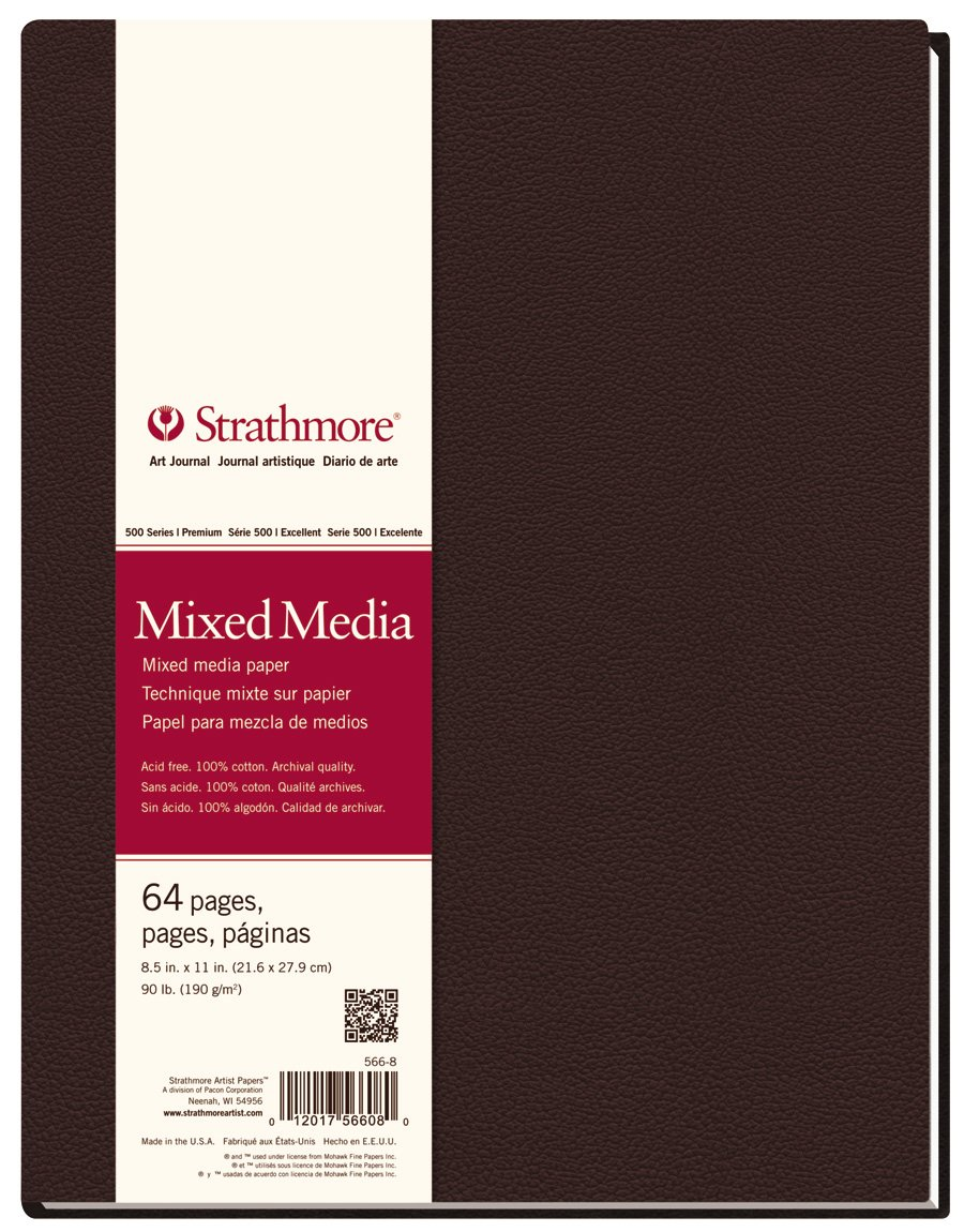 Strathmore 566-8 500 Series Hardbound Mixed Media Art Journal, 8.5''x11'' 32 Sheets