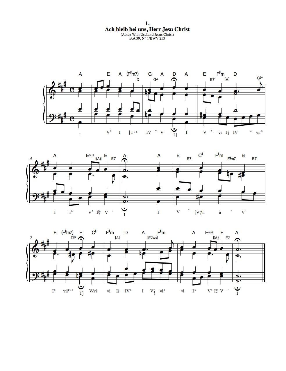 J.S. Bach 413 Chorales: Analyzed: Christopher Czarnecki ...