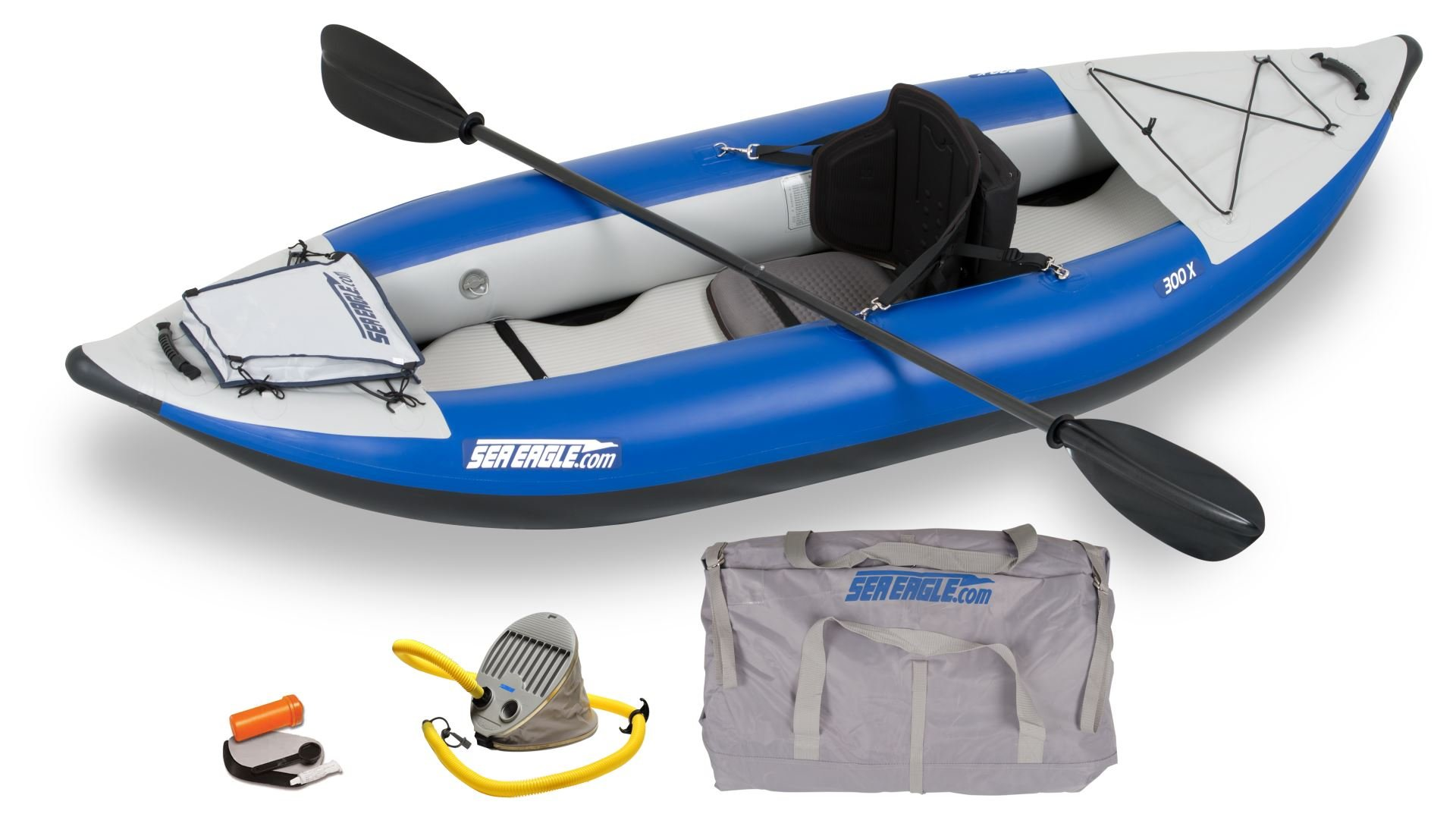 Sea Eagle 300XKPCT Explorer Pro Carbon Kayak with 16 Super-fast Drain Valves by Sea Eagle