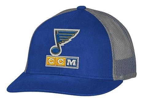 3ed9b84643ca0 Amazon.com : adidas St. Louis Blues CCM NHL Trucking Structured ...