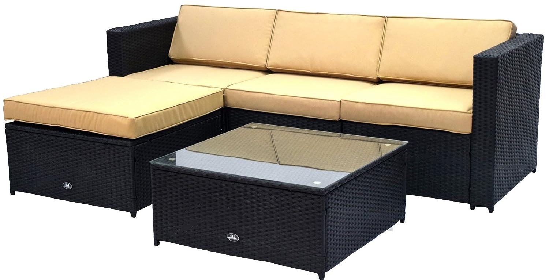 Sympathisch Polyrattan Gartenmoebel Guenstig Dekoration Von Gartenmöbel Set Gartengarnitur Sitzgruppe Lounge Gm12-sj-d-5s-schwarz Günstig