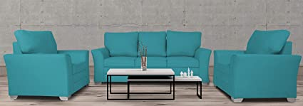 Amazing Adorn India Alexia 3 1 1 Sofa Set Aqua Blue Cjindustries Chair Design For Home Cjindustriesco
