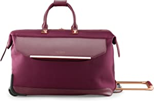 Ted Baker Women's Albany Softside Luggage, Suitcase Collection (Burgundy, Duffel)